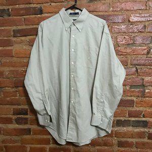 Nautica Khaki Long Sleeved Dress Shirt 17.5 34/35